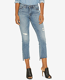 Silver Jeans Co. Mazy High Rise Bootcut Crop Jeans
