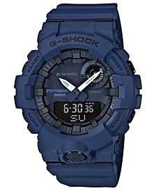 Men's Analog-Digital Steptracker Navy Blue Resin Strap Step Tracker Watch 48.6mm