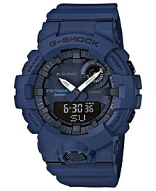 G-Shock Men's Analog-Digital Steptracker Navy Blue Resin Strap Step Tracker Watch 48.6mm