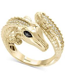 Safari by EFFY® Diamond Crocodile Ring (1/3 ct. t.w.) in 14k Gold