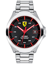 Ferrari Men's Aero Stainless Steel Bracelet Watch 44mm