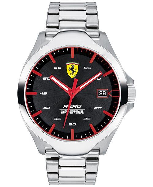 Ferrari Men's Aero Stainless Steel Bracelet Watch 44mm