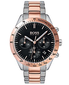 Hugo Boss Men's Chronograph Talent Two-Tone Stainless Steel Bracelet Watch 42mm