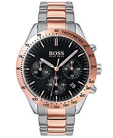 BOSS Hugo Boss Men's Chronograph Talent Two-Tone Stainless Steel Bracelet Watch 42mm