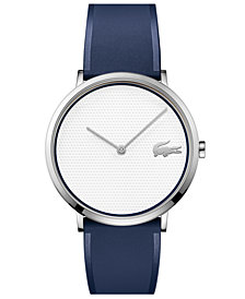 Lacoste Men's Moon Ultra Slim Blue Silicone Strap Watch 40mm