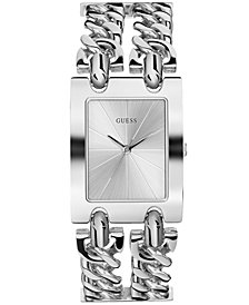 GUESS Women's Stainless Steel Chain Bracelet Watch 28mm