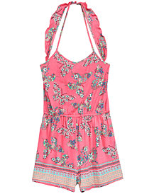Kandy Kiss Big Girls Butterfly-Print Halter Romper