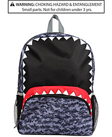FAB Little & Big Boys Camo Shark Backpack