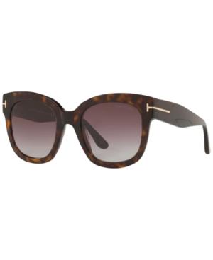 05c775be84 Tom Ford Beatrix 52Mm Sunglasses - Dark Havana  Gradient Bordeaux In Brown
