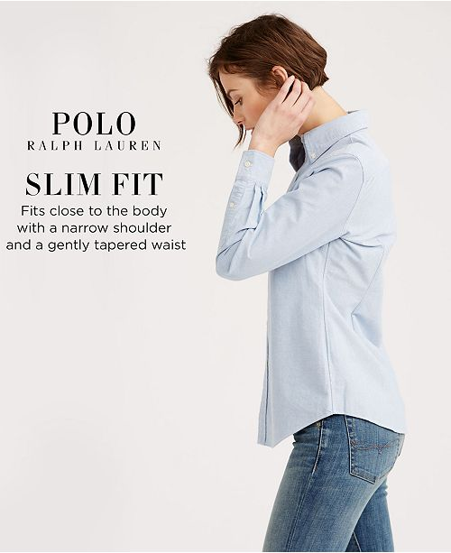 Polo Ralph Lauren Slim Fit Long-Sleeve Oxford Shirt - Tops - Women ... 6db85d23e