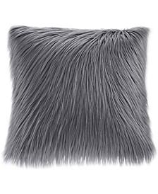 "Edina 20"" Square Faux-Fur Decorative Pillow"
