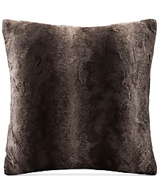 "Madison Park Zuri Faux-Fur 20"" Square Decorative Pillow"