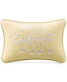 "Zahira 12"" x 18"" Embroidered Oblong Decorative Pillow"