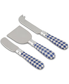 CLOSEOUT! Thirstystone 3-Pc. Gingham Check Cheese Set