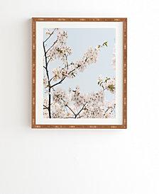 Deny Designs Cherry Blossom in Seoul Framed Wall Art