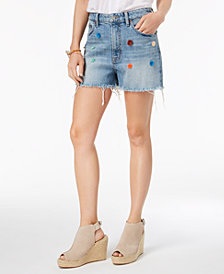 Lucky Brand Pom-Pom Denim Shorts