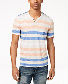 I.N.C. Men's Heathered Striped T-Shirt, Created for Macy's