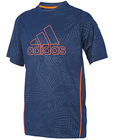 adidas Big Boys Printed Logo-Print T-Shirt