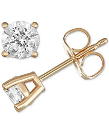 Macy's Star Signature Diamond™ Stud Earrings (1/2 ct. t.w.) in 14k Gold or White Gold
