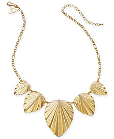 "Thalia Sodi Gold-Tone Palm Leaf Statement Necklace, 17"" + 3"" extension, Created for Macy's"