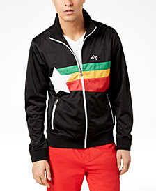 LRG Men's Irie Star Print Track Jacket
