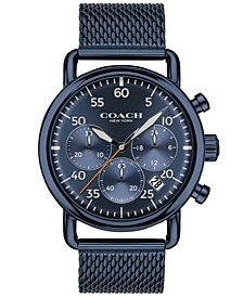 Men's Delancey Blue Stainless Steel Mesh Bracelet Watch 42mm