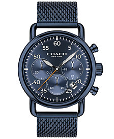 COACH Men's Delancey Blue Stainless Steel Mesh Bracelet Watch 42mm