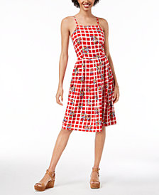 Maison Jules Printed Spaghetti-Strap Dress, Created for Macy's