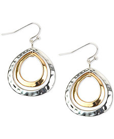 Charter Club Two-Tone Double-Row Drop Earrings, Created for Macy's