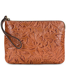 Patricia Nash Cassini Floral Tooled Leather Wristlet