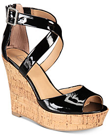 Material Girl Steffy Platform Wedges, Created for Macy's