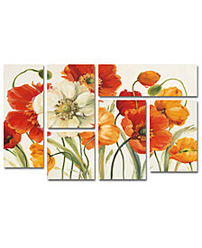 Lisa Audit 'Poppies Melody I' Multi-Panel Wall Art Set