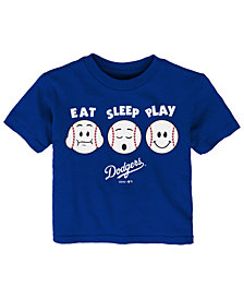 Outerstuff Los Angeles Dodgers Eat, Sleep, Play T-Shirt, Toddler Boys (2T-4T)