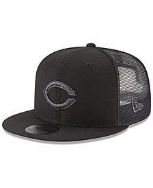 New Era Cincinnati Reds Blackout Mesh 9FIFTY Snapback Cap