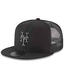 New Era New York Mets Blackout Mesh 9FIFTY Snapback Cap