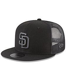 New Era San Diego Padres Blackout Mesh 9FIFTY Snapback Cap