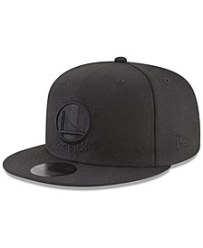 Golden State Warriors Blackout 59FIFTY Fitted Cap