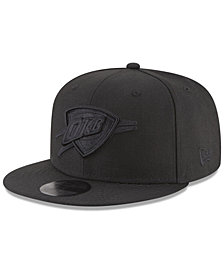 New Era Oklahoma City Thunder Blackout 59FIFTY Fitted Cap