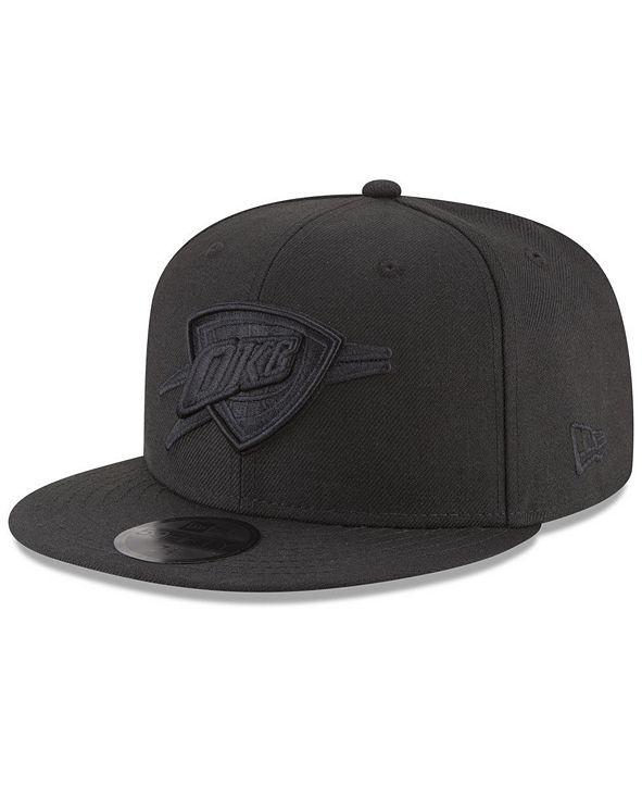 New Era Oklahoma City Thunder Blackout 59FIFTY Fitted Cap
