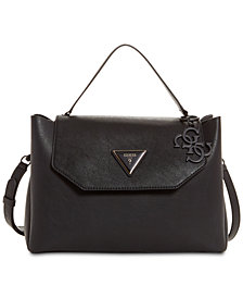 GUESS Jade Top Handle Flap Satchel
