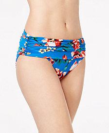 Lauren Ralph Lauren Havana Printed Shirred-Band Hipster Swim Bottom
