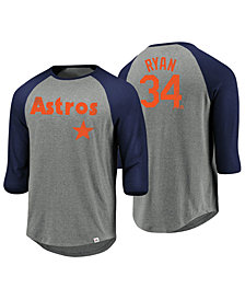 Majestic Men's Nolan Ryan Houston Astros So Much Extra Player Raglan T-Shirt