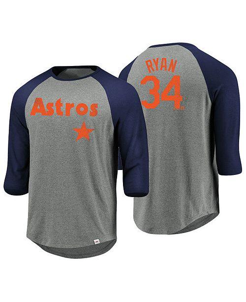 1371f5d010f Majestic Men s Nolan Ryan Houston Astros So Much Extra Player Raglan ...