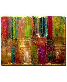 "Michelle Calkins 'Color Abstract' 35"" x 47"" Canvas Art Print"