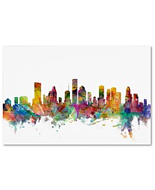 "Michael Tompsett 'Houston Texas Skyline' Canvas Art - 16"" x 24"""