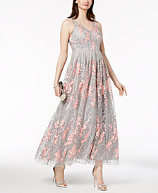 Adrianna Papell Embellished Embroidered Gown, Regular & Petites