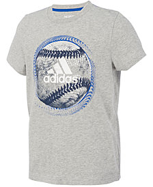 adidas Big Boys Ball-Print Cotton T-Shirt