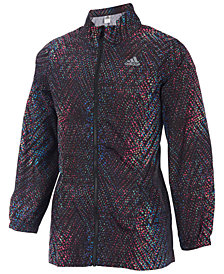 adidas Big Girls Printed Parka Wind Jacket