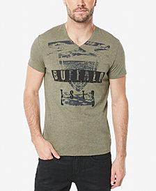 Buffalo David Bitton Men's Tufil Graphic-Print V-Neck T-Shirt