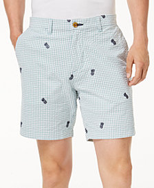 "Tommy Hilfiger Men's Embroidered Pineapple 9"" Shorts"